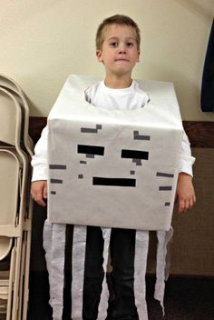 Minecraft ghast costume. #easy, #quick, #halloween costumes