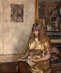 Edouard Vuillard, Portrait of Geneviève Bernheim de Villers (1907-1936) on ArtStack #edouard-vuillard #art