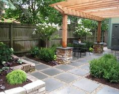 pea Gravel between the pavers... love the pagoda too: