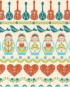 Image result for russian doll fabric