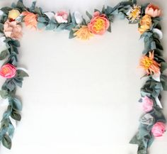 the most beautiful felt floral garland (and how to make one!)
