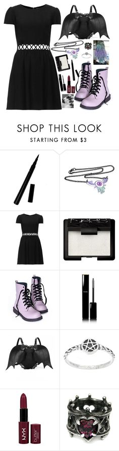 """Pastel Goth <3"" by crazydirectionergirl ❤ liked on Polyvore featuring Topshop, NARS Cosmetics, Chanel, NYX and Leg Avenue"