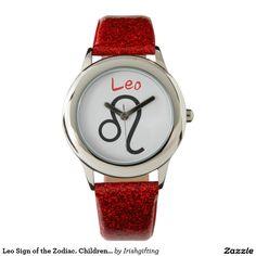 Leo Sign of the Zodiac. Childrens Watches. Wrist Watch