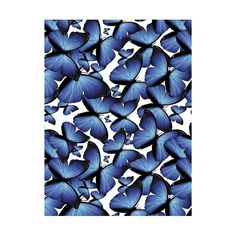 This blue butterfly pattern kitchen splashback will add vivid colours to your kitchen. This would brighten my kitchen up no end! Butterfly Pattern, Blue Butterfly, Vivid Colors, Colours, Splashback, Color Shapes, Garden Supplies, Ideal Home, Beautiful Kitchens
