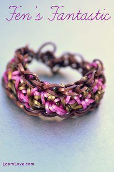 How to Make Fen's Fantastic Rainbow Loom Bracelet #rainbowloom