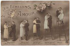 Cartes postales anciennes: Carte postale anciennes Les échelons de l'amour