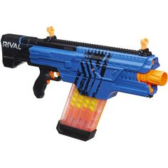 Take aim with the Nerf Rival Khaos blaster and experience the intensity of Nerf Rival battling. Whether the competition is a battle or a squad-sized skirmish, Nerf Rival blasters bring exciting intensity to the action. Nerf Games, Nerf Toys, Fun Games, Nerf Accessories, Ryan Toys, Cool Nerf Guns, Barbie Makeup, Ar 15 Builds, Intense Games