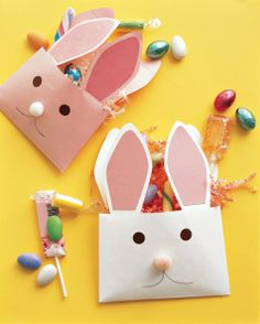 How to craft an envelope bunny for holding Easter candy