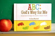 "ABC Book Alphabet Scripture Book for Kids ""ABC: God's Way for Me"" Hardcover Alphabet Bible Verse Children's Book Scriptures For Kids, Abc For Kids, Kids Class, Letter Activities, Bible Teachings, School Lessons, Bible Lessons, Quotes For Kids, Kids Education"