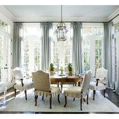 beautiful and bright dining room