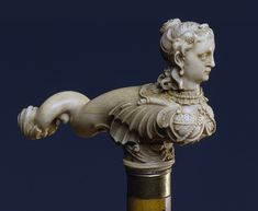 Walking stick with a knob in the form of a mermaid Russia, France, Dieppe (?) The second half of the 18th century