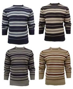 Mens Kensington Knitted Striped Jumper