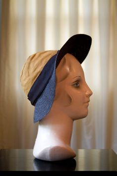 1930's Deanna Durbin Brown Straw and Tan Suede Hat