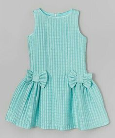 Loving this ValMax Aqua Check Bow Dress - Girls onGirls Lace Dress - Free WorldWide Shipping Gender: Girls Dresses Length: Knee-Length Silhouette: A-Line Collar: O-neck Sleeve Length: Half Decoration: Bow PattI want the pattern Girls Frock Design, Kids Frocks Design, Baby Frocks Designs, Baby Dress Design, Frocks For Girls, Dresses Kids Girl, Kids Outfits, Baby Girl Dress Patterns, Toddler Dress
