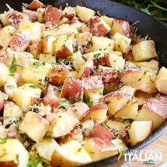 The Slow Roasted Italian - Printable Recipes: Garlic Parmesan Cheesy Potatoes