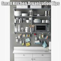 Small kitchen organization tips #organizing   #homeorganization  #smallkitchens