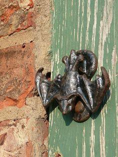 Bat door knocker