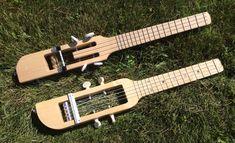 Handmade travel ukuleles.