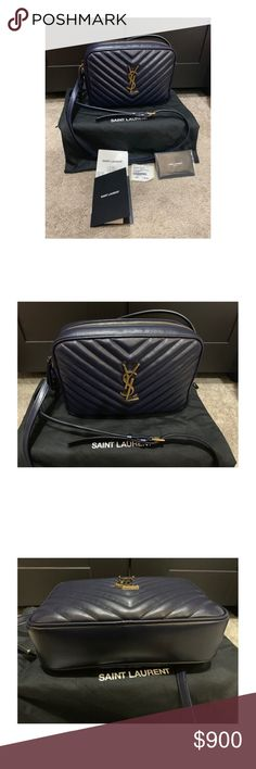 YSL Saint Laurent Lou Camera Bag Navy Leather Purchased 10 5 18. Used ·  Luxury BagsYves Saint Laurent BagsYslRetail PriceCameraTasselDust  BagCrossbody ... e2a16d460219b