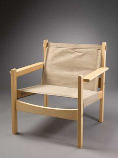 Adolf Relling; Fir and Hemp 'Fututum' Chair for Sørliemøbler A/S, 1965.