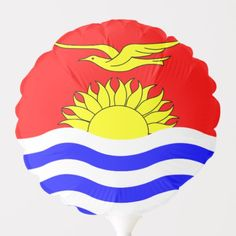 Shop Kiribati flag balloon created by AwesomeFlags. Kiribati Flag, Political Events, National Flag, Dog Bowtie, Baby Shower Games, Invitation Cards, Flags, Art For Kids, Baby Kids