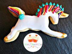Rainbow Unicorn Cookie by Wish I Had A Cake