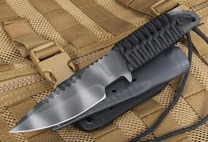 Strider Knives HT-S Black Tactical Fixed Blade Knife. Perfect utility fixed blade