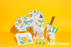 Wild One - Jungle Safari Party Box 🦁🦓 Jungle Safari, Jungle Theme, Party In A Box, For Your Party, Safari Party Decorations, African Jungle, Colorful Party, Wild Ones, Eat Cake