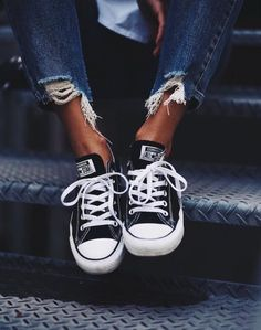 Converse All Star Chuck Taylor Ox Womens Trainers in Black White at  Scorpion Shoes.