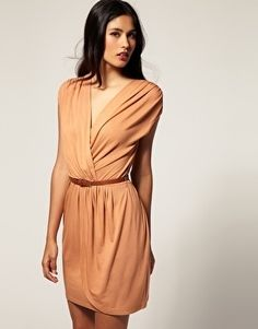 ASOS Cross Front Dress with Belt - StyleSays