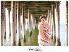 beach goddess, maternity shoot, on the beach, Fresh Look Photography, goddess, coral and teal, under the pier, evening glow, pregnancy photo shoot, baby boy