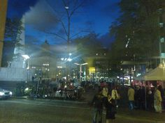 Dam Square, Amsterdam, August 25. Taken from Krasnapolsky with my Lumia. Great evening.