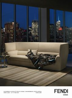 Conde Nast House & Garden July 2014 Fendi Casa Cocoon sofa