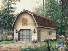 16' x 24' x 8' Garage with Gambrel Roof at Menards