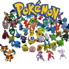 24 Assorted Pokemon Plastic Figures Great for party favors or table decorations How is your favorite Pokemon. Collect them all. There are 144 different characters.