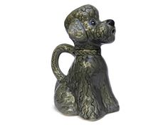 French Poodle Water Pitcher. Mid Century Ceramic Dog Figure