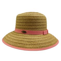 Down sloping, wide brim bound with ribbon. Matching ribbon band with small bow. One size. (runs larger, fits up to paper straw, polyester. Cloche Hat, Brim Hat, Summer Hats For Women, Cheap Boots, Jüngstes Kind, Spring Fever, Paper Straws, Fashion Essentials, Panama Hat