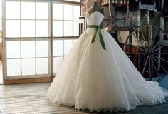 This is certainly a Scarlet O'hara wedding dress!