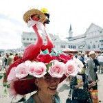 Kentucky Derby hat: flamingo