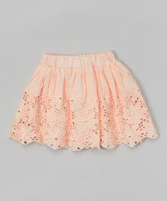 Love this Pink Floral Lace Skirt - Infant, Toddler & Girls on #zulily! #zulilyfinds