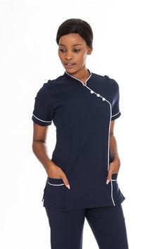 Corporate Clothing Nursing Tunic, Nursing Tops, Salon Uniform, Nursing Uniforms, Somerset West, Chinese Collar, Scrubs Uniform, Corporate Outfits, Custom Made Clothing
