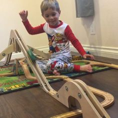 Can Brio train make it down the mountain and over the hill? Sneak peak of products soon to be released! Diy Furniture Projects, Kids Furniture, Toddler Fun, Toddler Activities, Baby Indoor Playground, Ikea Train, Toy Trains For Kids, Wood Toys Plans, Stacking Toys