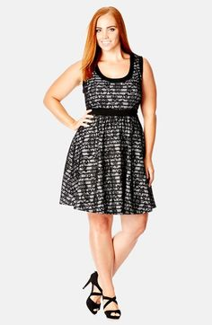 City+Chic+'Lace+Lady'+Fit+&+Flare+Dress+(Plus+Size)+available+at+#Nordstrom