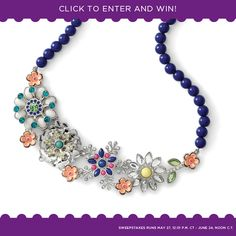 A different prize each day ... the Full Bloom necklace. This was my free gift for hosting a Lia Sophia party!