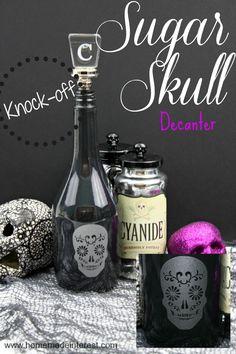 Home. Made. Interest. | Sugar Skull Decanter Knock-off | http://www.homemadeinterest.com