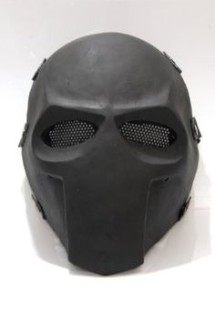 "Army of Two Custom Airsoft Mask and Prop Mask "" Flat Black # 2 """