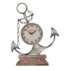 Woodland Imports Anchor Table Clock