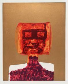 Sidney Nolan ~ Kelly, 1965 (screenprint on paper) Australian Painters, Australian Artists, Sidney Nolan, Victoria Art, Cultural Identity, List Of Artists, Aboriginal Art, Conceptual Art, Figure Painting
