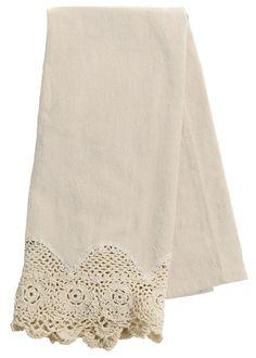 Blue Ribbon Crochet Tea Towel | Heritage Lace