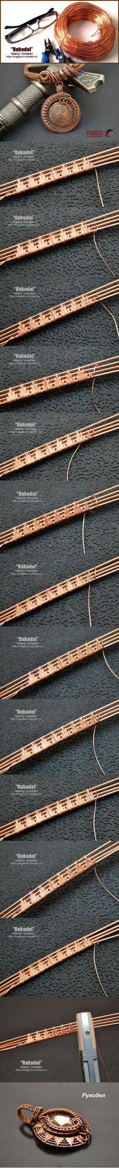 Плетение оплеток из проволоки Wire Wrap. | Рукодел